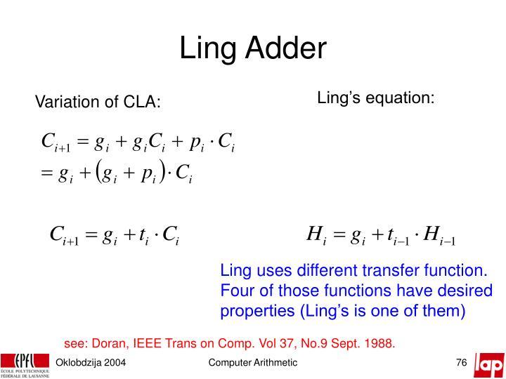 Ling Adder