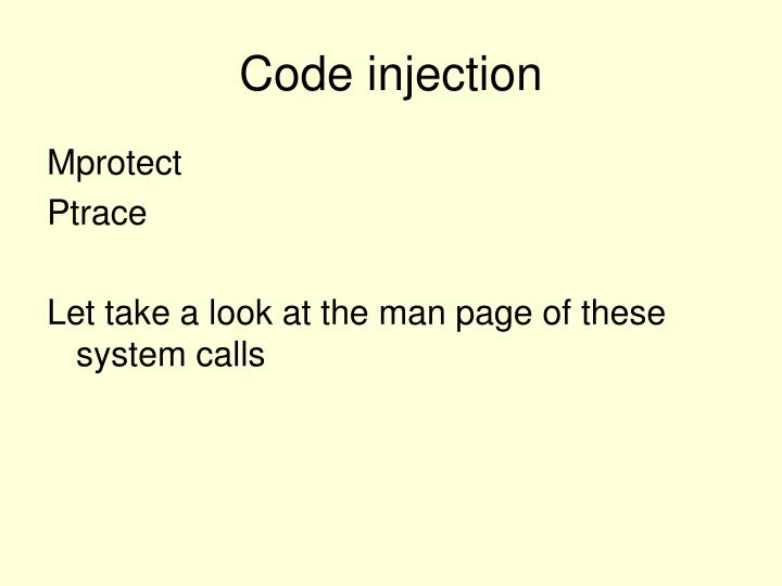 Code injection