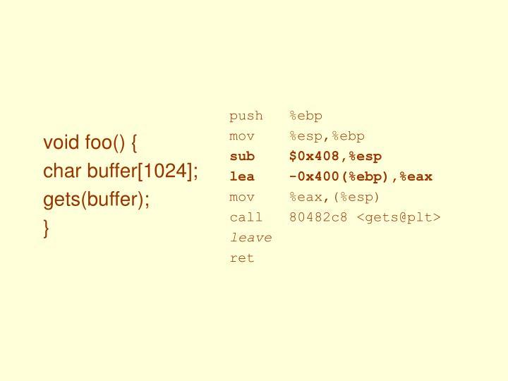 void foo() {