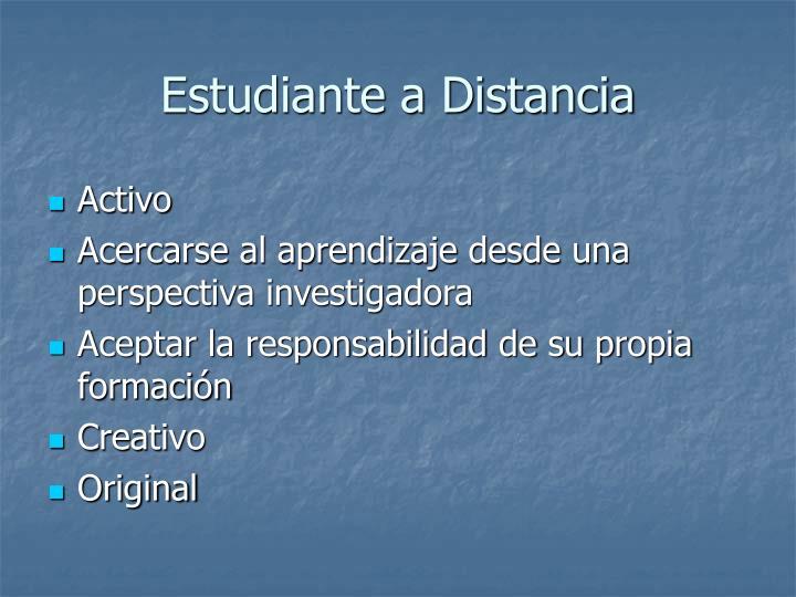 Estudiante a Distancia