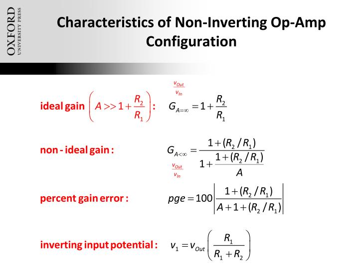 Characteristics of Non-Inverting Op-Amp Configuration