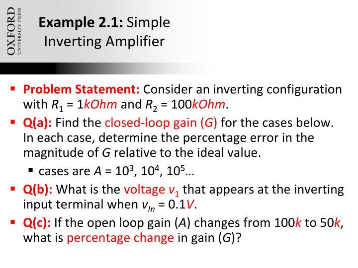 Example 2.1: