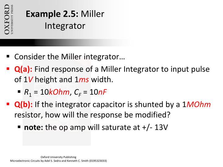 Example 2.5:
