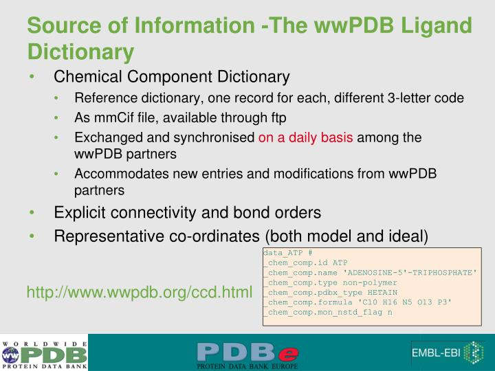Source of Information -The wwPDB Ligand Dictionary