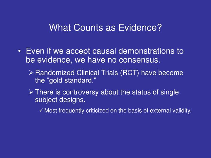 What Counts as Evidence?