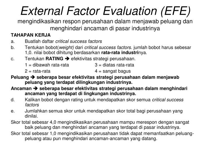 External Factor Evaluation (EFE)