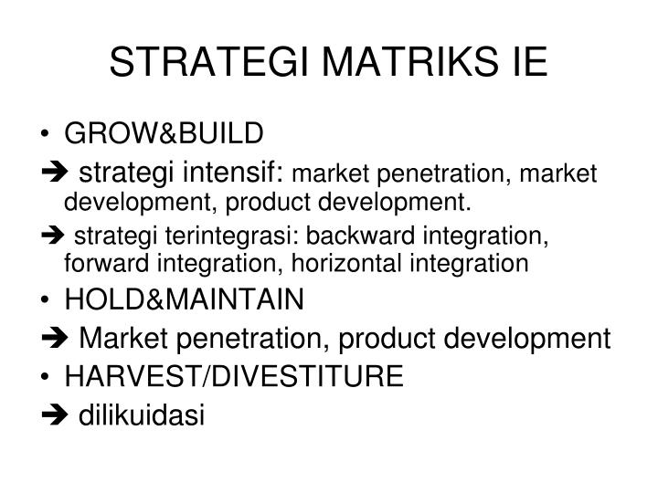 STRATEGI MATRIKS IE