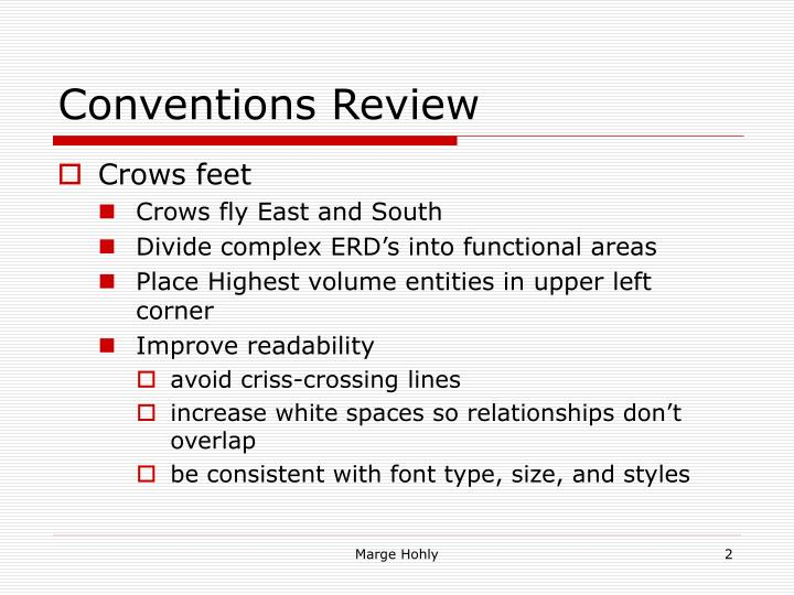 Conventions Review