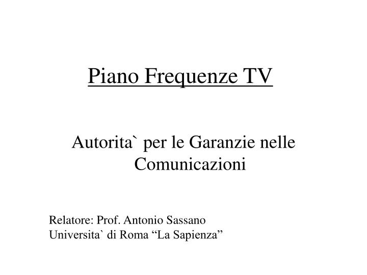 Piano frequenze tv