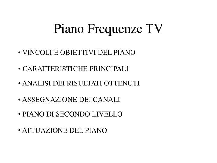 Piano Frequenze TV