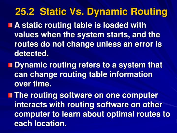25 2 static vs dynamic routing