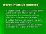 worst invasive species