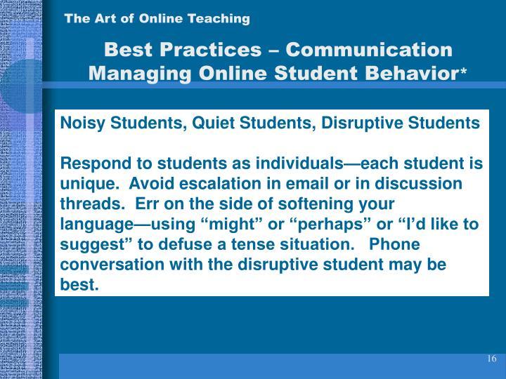 The Art of Online Teaching