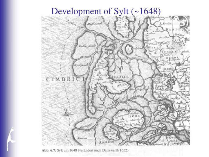 Development of Sylt (~1648)