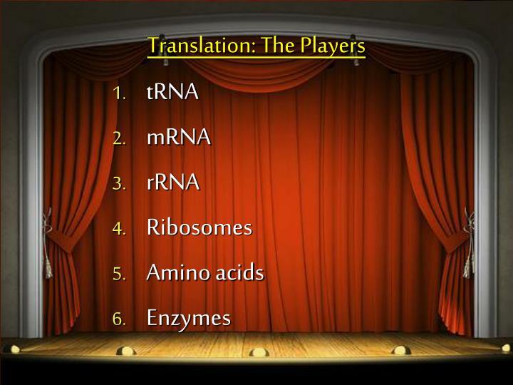 Translation: The Players