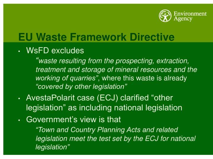EU Waste Framework Directive
