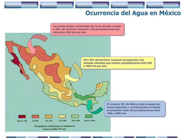 Ocurrencia del Agua en México