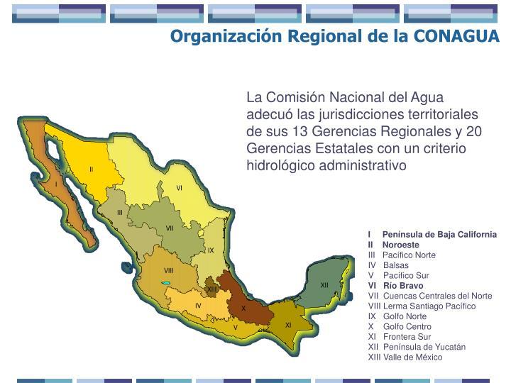 Organización Regional de la CONAGUA
