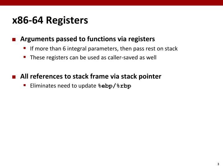 x86-64 Registers