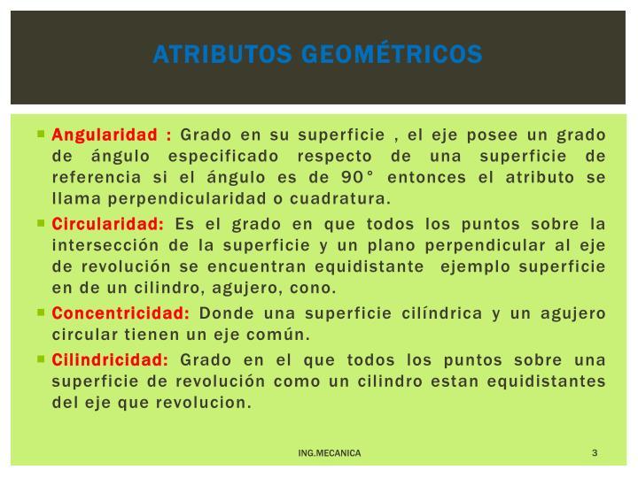 Atributos geométricos