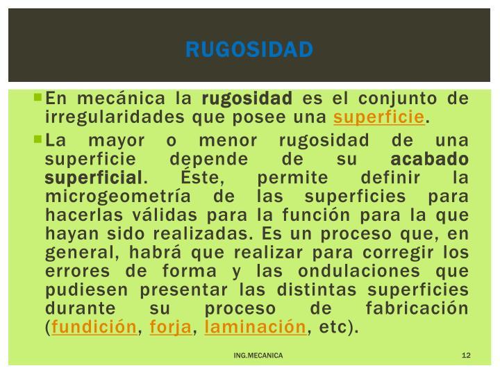 RUGOSIDAD