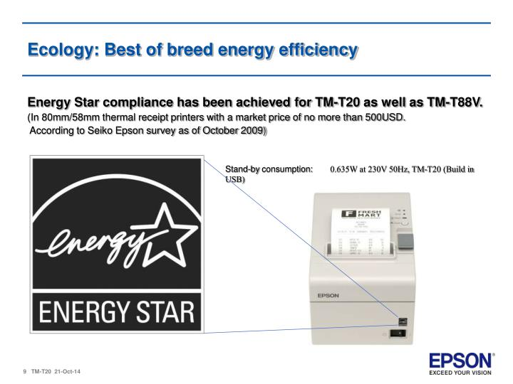 Ecology: Best of breed energy efficiency