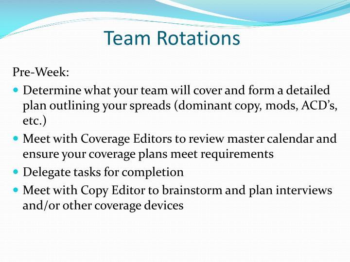 Team Rotations
