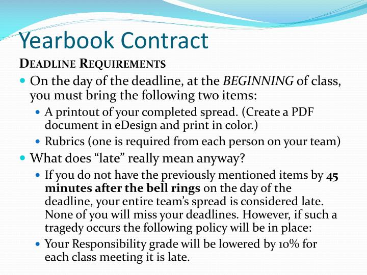 Yearbook Contract