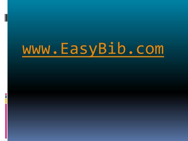 www.EasyBib.com