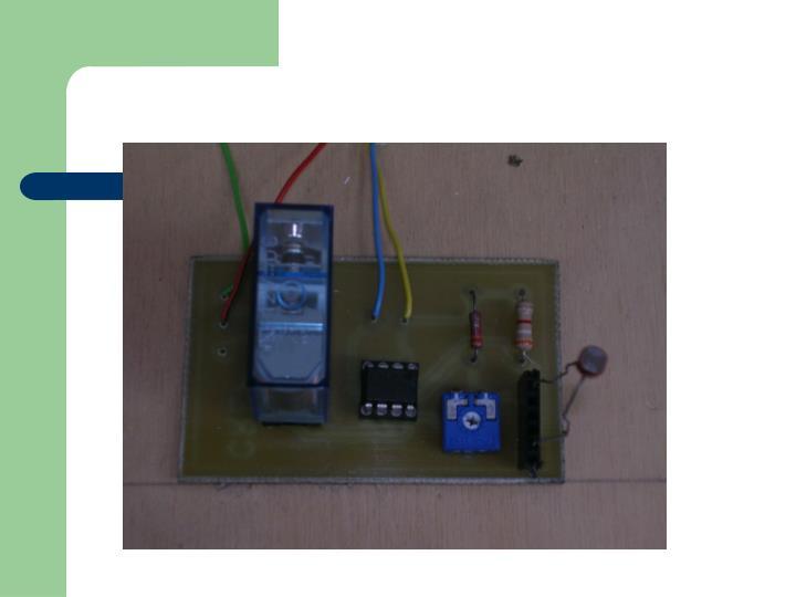 Foto del circuito crepuscolare: