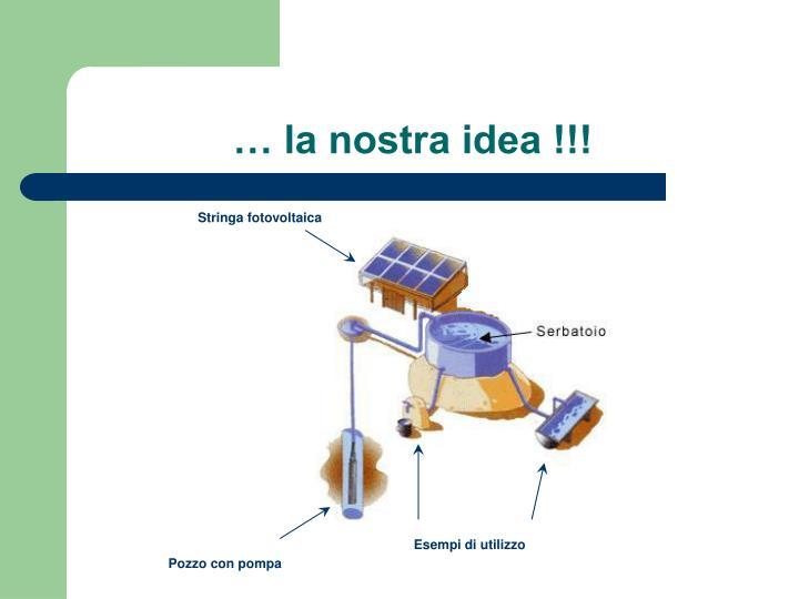 … la nostra idea !!!