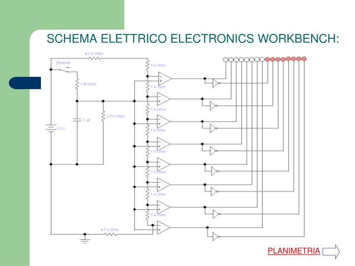 SCHEMA ELETTRICO ELECTRONICS WORKBENCH: