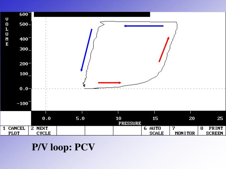 P/V loop: PCV
