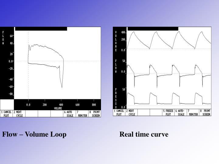 Flow – Volume Loop                             Real time curve