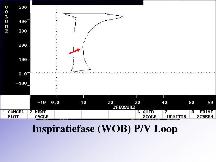 Inspiratiefase (WOB) P/V Loop