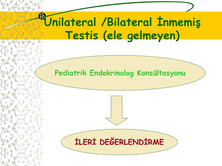 Unilateral /Bilateral İnmemiş Testis (ele gelmeyen)