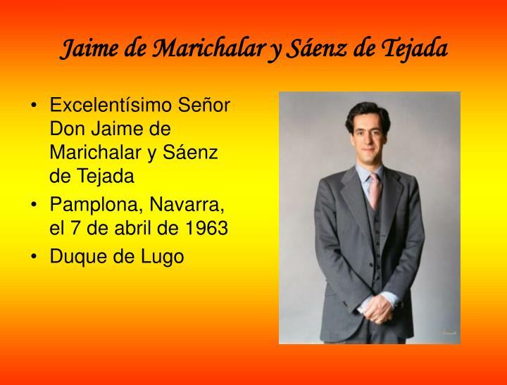 Jaime de Marichalar y Sáenz de Tejada
