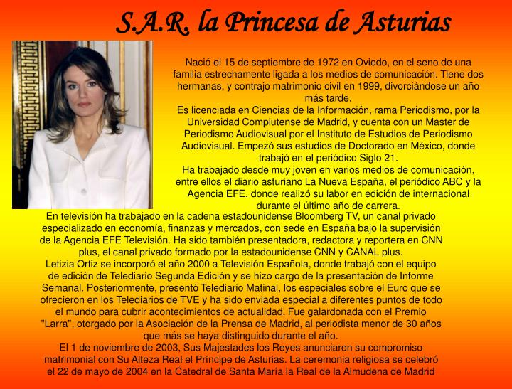 S.A.R. la Princesa de Asturias