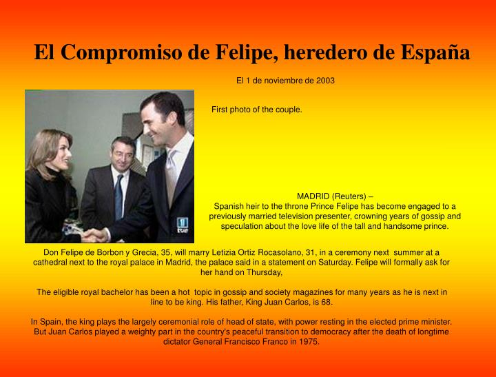 El Compromiso de Felipe, heredero de Espa