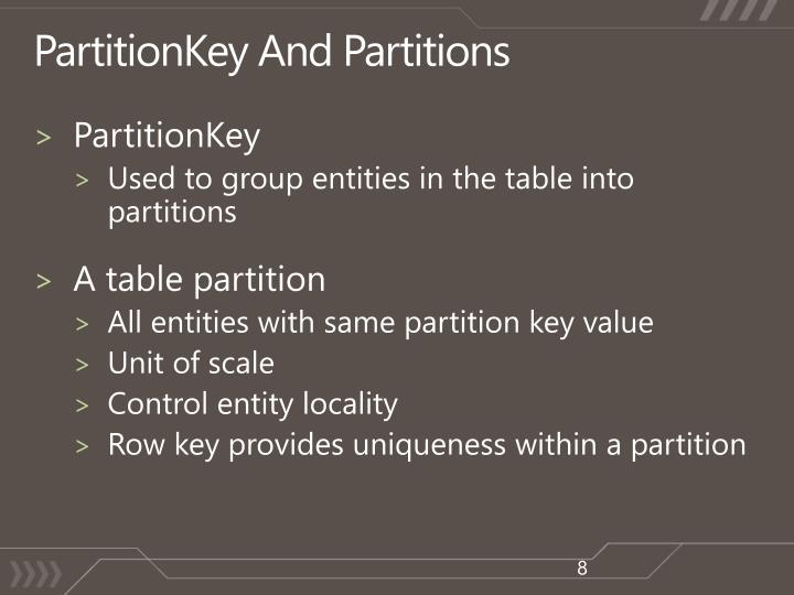 PartitionKey