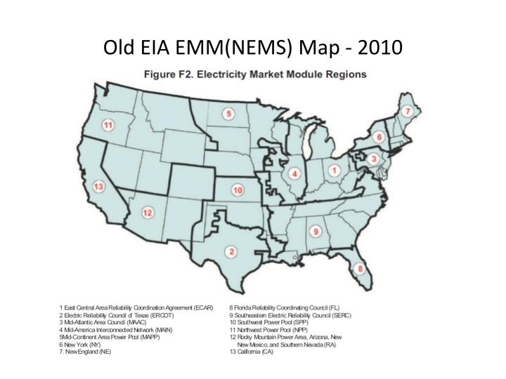Old EIA EMM(NEMS) Map - 2010