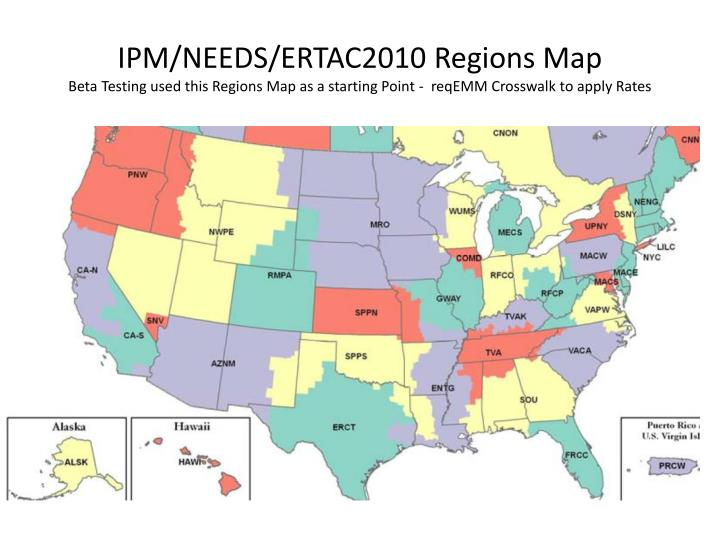 IPM/NEEDS/ERTAC2010 Regions Map