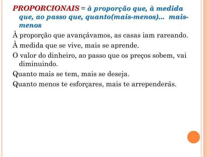 PROPORCIONAIS