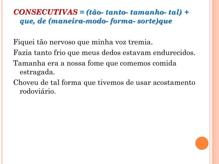 CONSECUTIVAS
