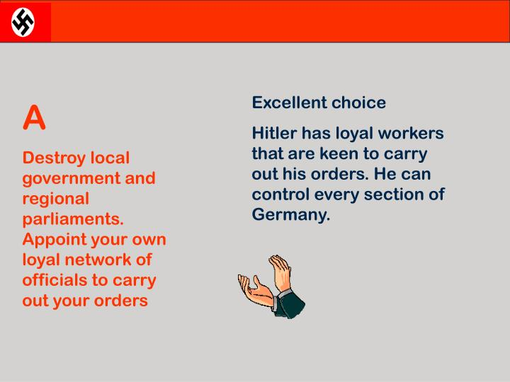 Excellent choice