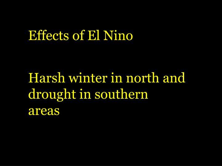 Effects of El Nino