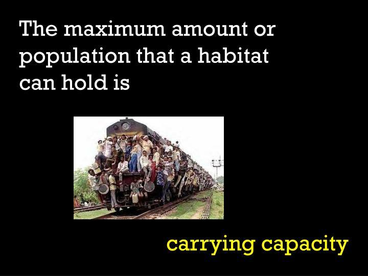 The maximum amount or