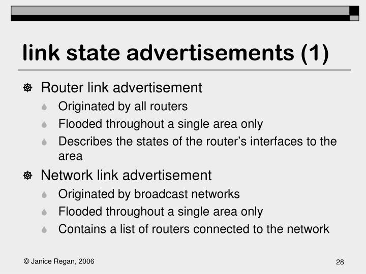 link state advertisements (1)