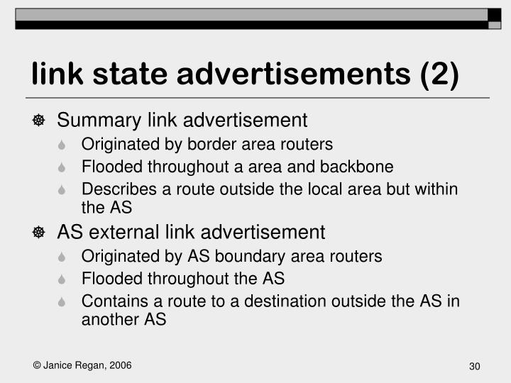 link state advertisements (2)