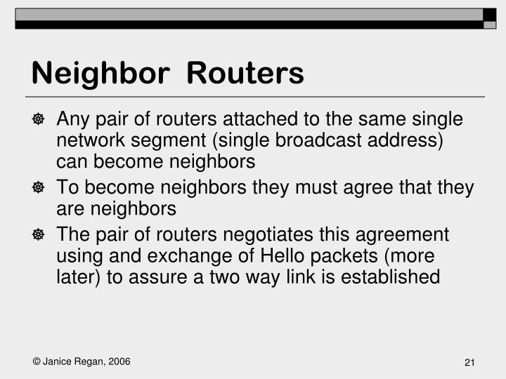 Neighbor  Routers